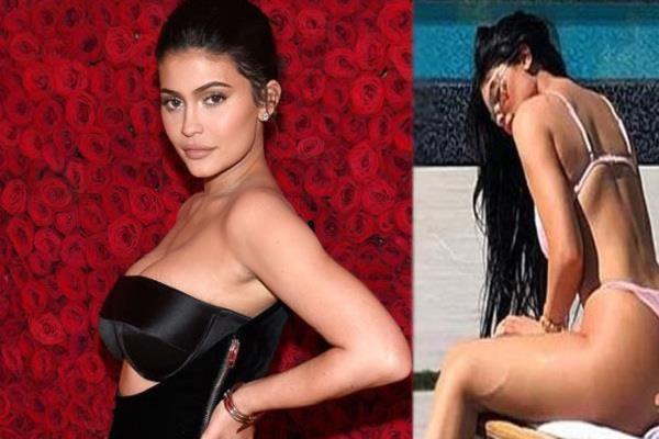 kylie jenner in bikini to celebrate kim kardashian birthday