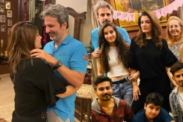 raveena tandon celebrated her 45th birthday with family