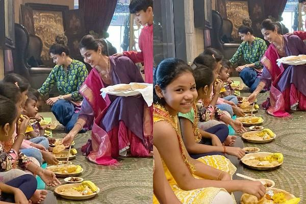 shilpa shetty celebrates kanya poojan on durga ashtami