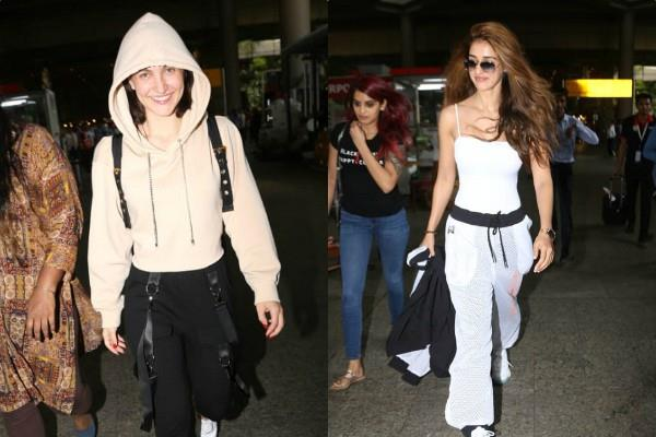 disha patani and elli avram spotted at airport