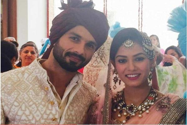 couple shahid kapoor and mira rajput shares pictures of wedding ceremony