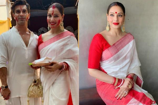bipasha basu play sindoor khela with hubby karan singh grover