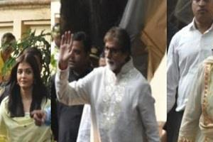 bachchan family seen together on amitabh s birthday