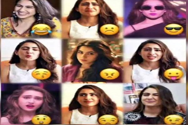 sara ali khan share her emoji expressions