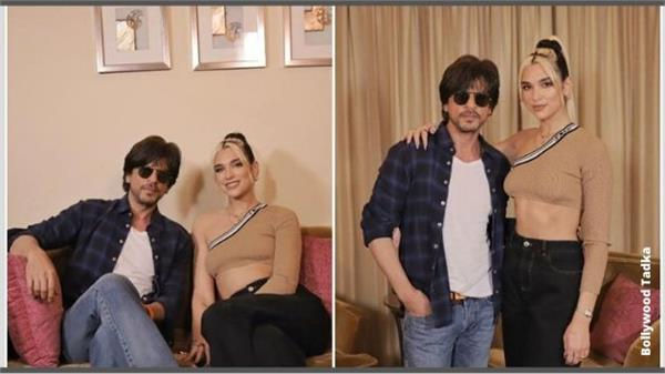 pop singer dua lipa meet with shahrukh