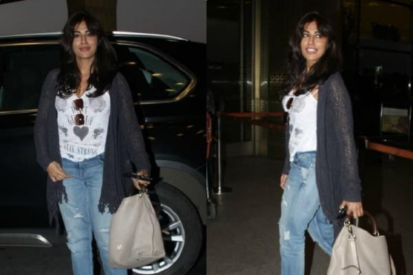 chitrangada singh stylish appearance at mumbai airport