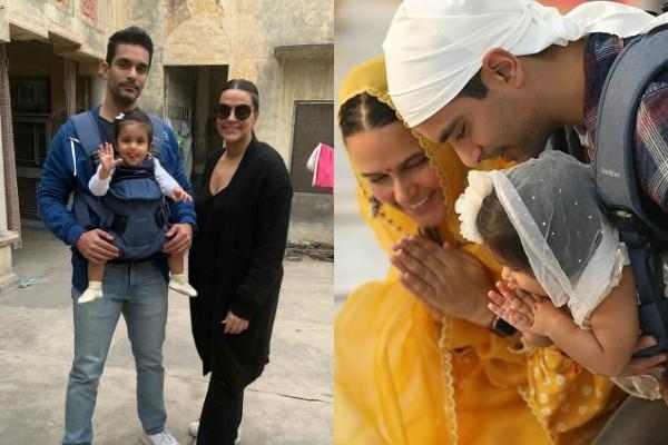 neha dhupia angad bedi daughter mehr first pictures viral on internet