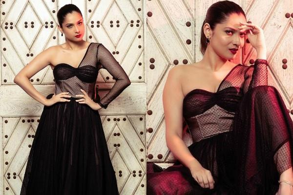 ankita lokhande looks bold in black outfit see pictures