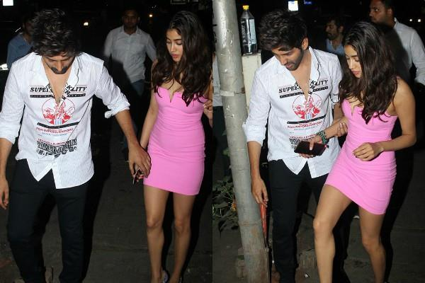 kartik special bond with dostana 2 co star janhvi kapoor on his birthday bash
