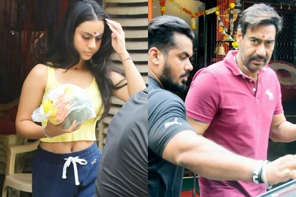 users trolled ajay devgn daughter nysa for wear crop top in temple