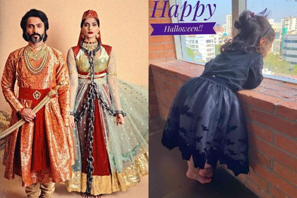 sonam soha daughter inaaya and other stars celebrated halloween day 2019