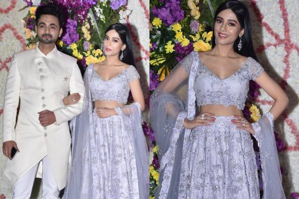 amrita rao attend sooraj barjatya son devansh wedding reception with rj anmol