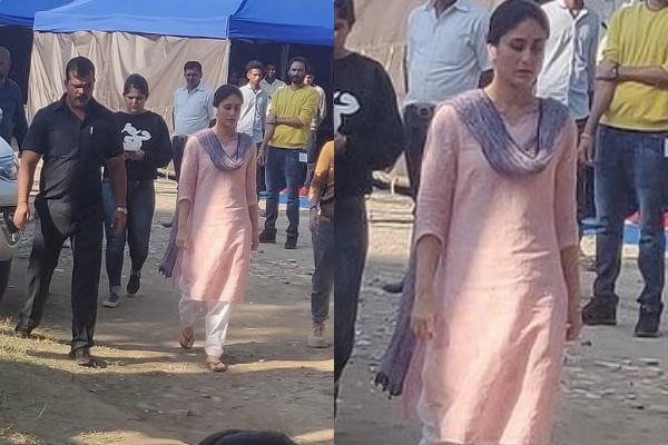 kareena kapoor khan look leaked from laal singh chadha set