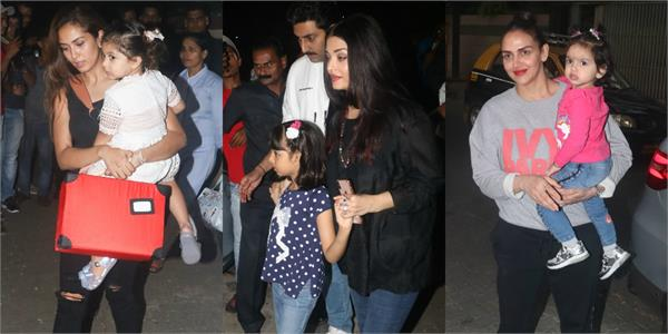 aishwarya rai mira rajput and others attend riteish deshmukh son birthday party