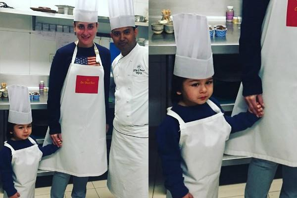 kareena kapoor go for cooking class with son taimur at chandigarh hotel