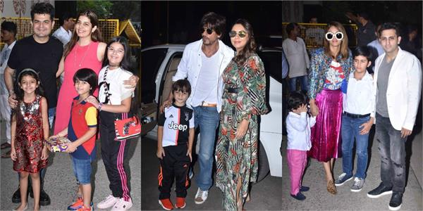 bollywood stars at aaradhya birthday party with their kids