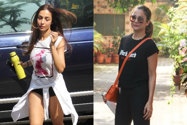 malaika arora and amrita arora spotted outside the yoga class
