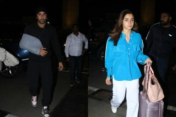 alia bhutt spotted at airport with injured ranbir kapoor