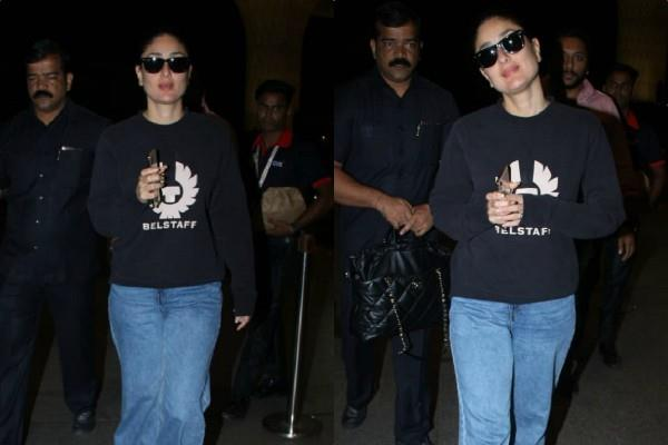 kareena kappor khan looks cool as she spotted at airport