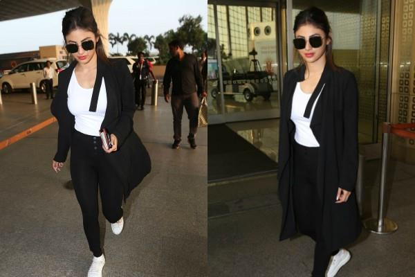 mouni roy trendy look at mumbai airport