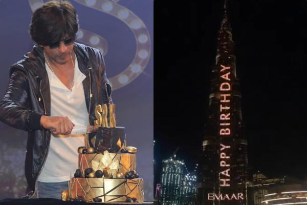 shahrukh celebrates his birthday with fans and burj khalifa wishes king khan
