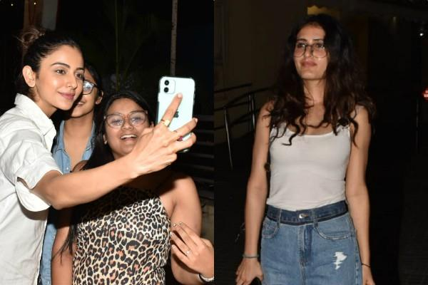 rakul preet and fatima sana shaikh spotted at juhu pvr