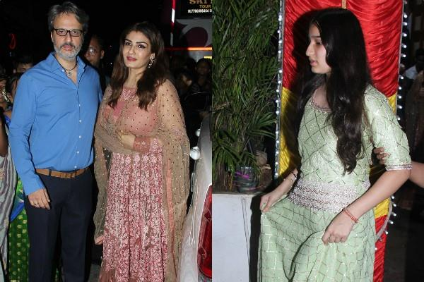 raveena tandon attend driver wedding with family