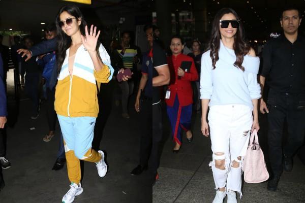 katrina kaif daisy shah spotted at mumbai airport