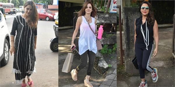 sara ali khan sussanne khan and gauri khan spotted outside the salon