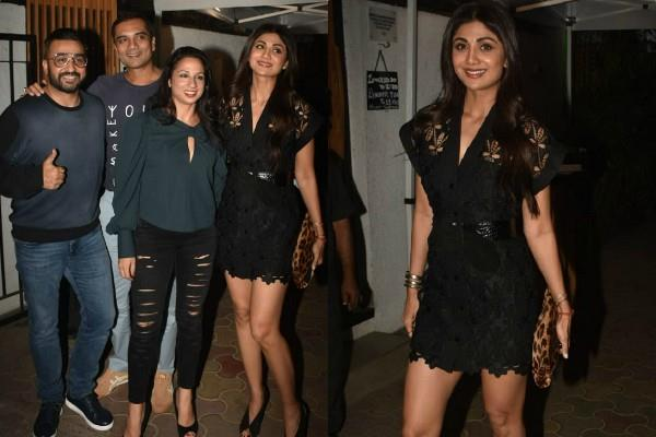 shilpa shetty dinner date with husband raj kundra and friends