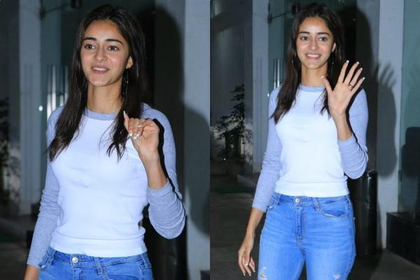 ananya panday spotted at dubbing studio in juhu