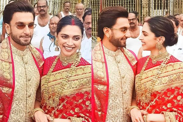 deepika and ranveer singh reached at venkateswara temple