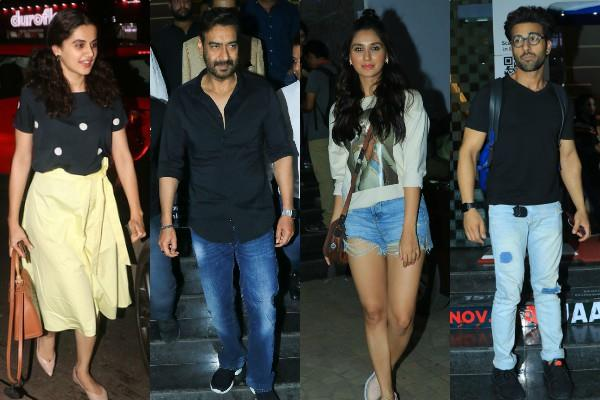 bollywood stars at ujda chaman screening