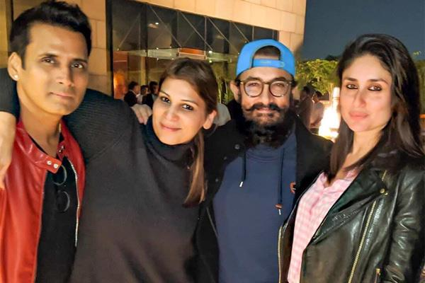 pictures of aamir khan partying with kareena goes viral