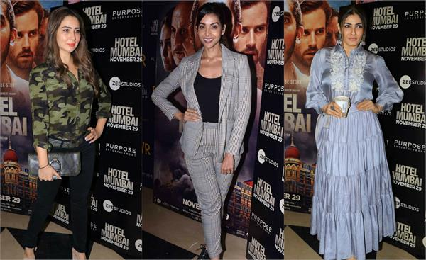 stars at screening of hotel mumbai