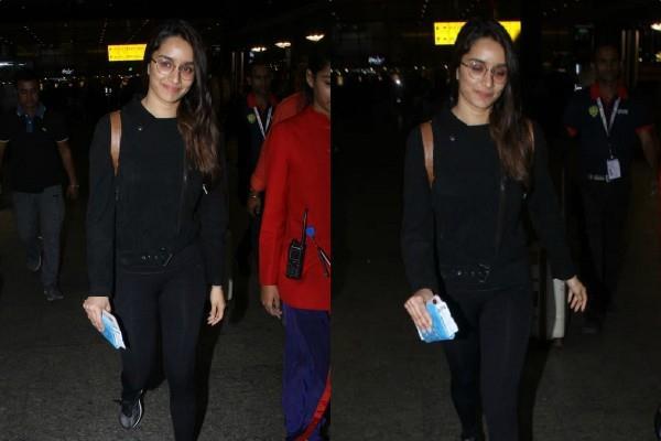 shraddha kapoor spotted at mumbai airport