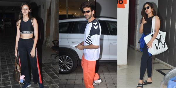 ananya panday bhumi and kartik aaryan spotted outside the dance class