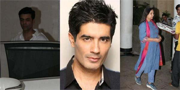 manish malhotra father passes away karan shabana snapped outside his residence