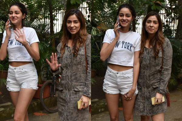 ananya panday looked with mom