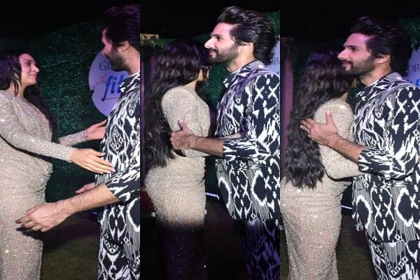 shahid kapoor and kiara advani reached the global fit and fab show