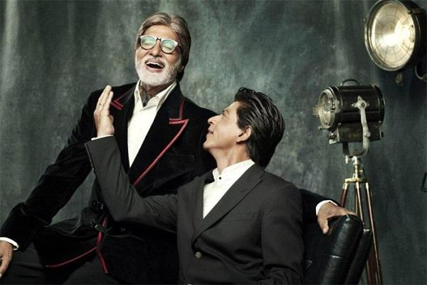 big b shares photo of deep conversation with king khan