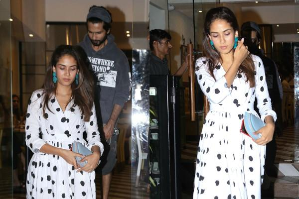 shahid kapoor and mira rajput spotted at cafe for dinner