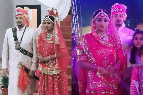 mohena kumari and suyash rawat look stunning their wedding reception in rewa