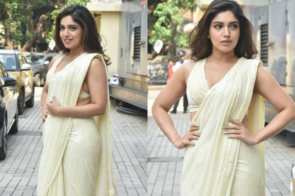 bhumi pednekar looks beautiful in traditional look as she attends trailer launch