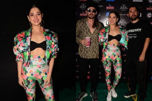 tamanna bhatia stylish appearance at dj dimitri vegas and like mike event