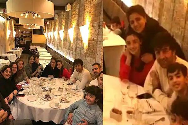 alia tate dinner with ranbir s mother