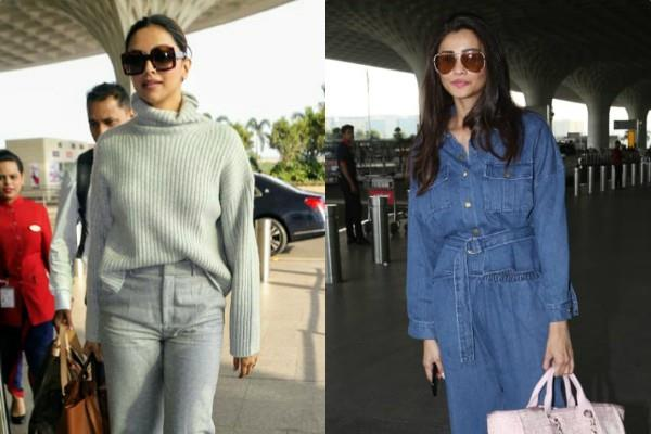 deepika padukone and daisy shah spotted at airport