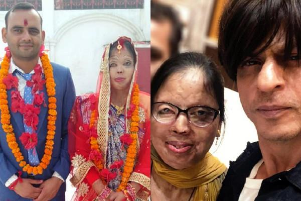 shahrukh khan wishes to acid attack victim for her marriage