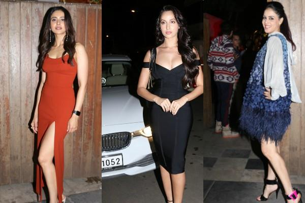 rakul preet nora divya khosla and others at milap zaveri birthday party