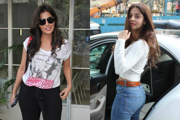 vedhika kumar and chitrangada singh spotted outside the salon